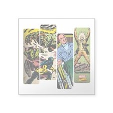 "Professor X Comic Panel Square Sticker 3"" x 3"""