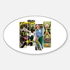 Professor X Comic Panel Sticker (Oval)