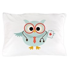 Owl Doctor Pillow Case