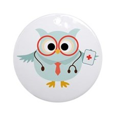 Owl Doctor Ornament (Round)
