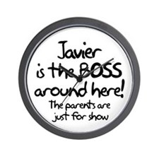 Javier is the Boss Wall Clock