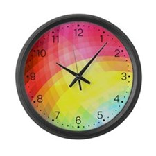 Cheerful - Rainbow Large Wall Clock