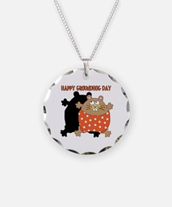 Happy Groundhog Day Necklace