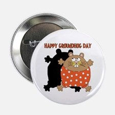 """Happy Groundhog Day 2.25"""" Button (100 pack)"""