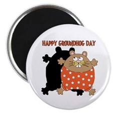 """Happy Groundhog Day 2.25"""" Magnet (100 pack)"""