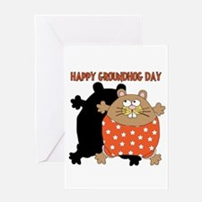 Happy Groundhog Day Greeting Card