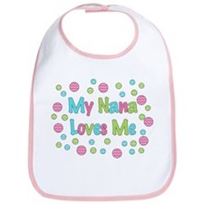 My Nana Loves Me Girl Design Bib