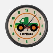 Pick Up Truck Kids Personalized Large Wall Clock