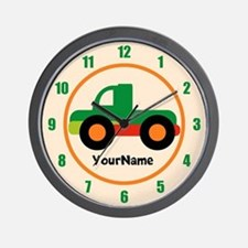 Pick Up Truck Kids Personalized Wall Clock