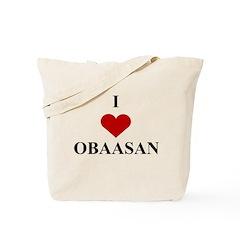 I Love (heart) Obaasan Tote Bag