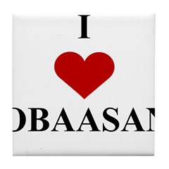 I Love (heart) Obaasan Tile Coaster