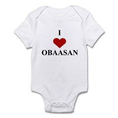I Love (heart) Obaasan Infant Bodysuit