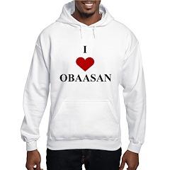 I Love (heart) Obaasan Hoodie