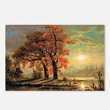 Bierstadt - Sunset Scene  Postcards (Package of 8)