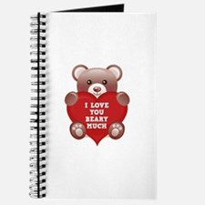 I Love You Beary Much Journal