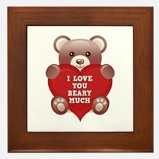 I Love You Beary Much Framed Tile