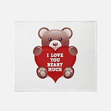 I Love You Beary Much Stadium Blanket
