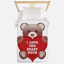 I Love You Beary Much Twin Duvet