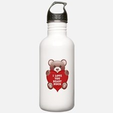 I Love You Beary Much Water Bottle