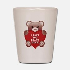 I Love You Beary Much Shot Glass