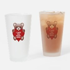 I Love You Beary Much Drinking Glass