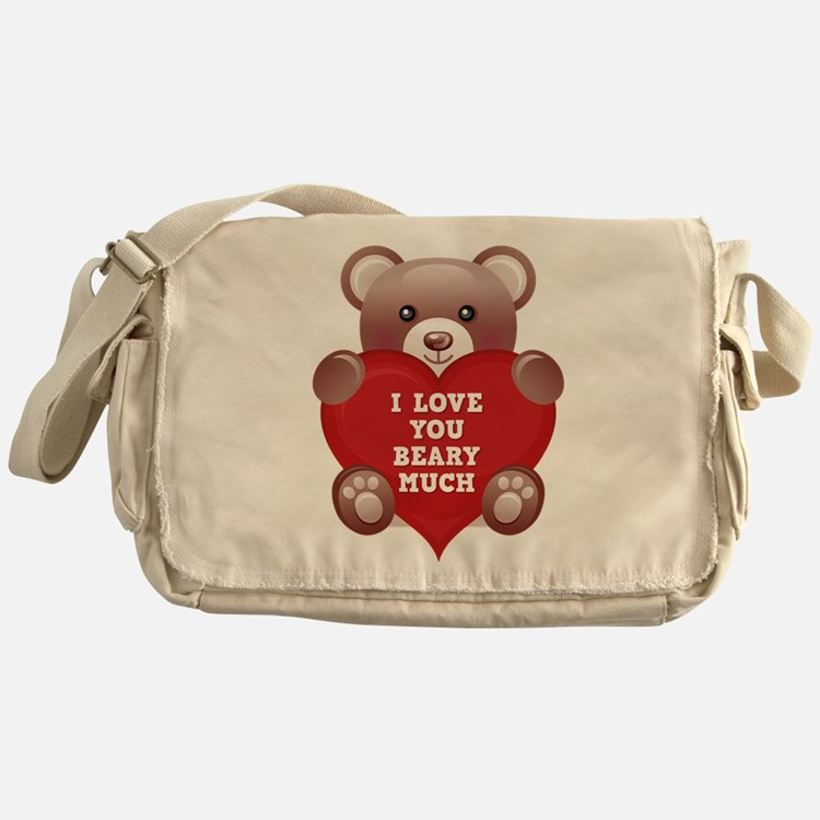 I Love You Beary Much Messenger Bag