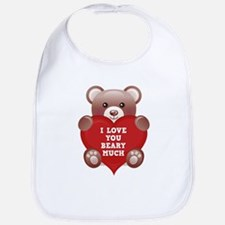 I Love You Beary Much Bib