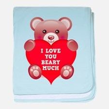 I Love You Beary Much baby blanket