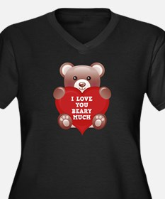 I Love You Beary Much Women's Plus Size V-Neck Dar