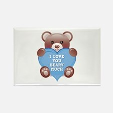 I Love You Beary Much Rectangle Magnet (100 pack)