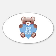 I Love You Beary Much Decal