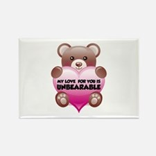 My Love For You Is Unbearable Rectangle Magnet (10