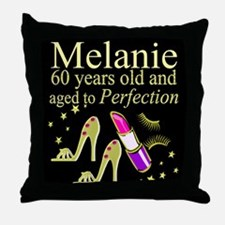 SPARKLING 60TH Throw Pillow