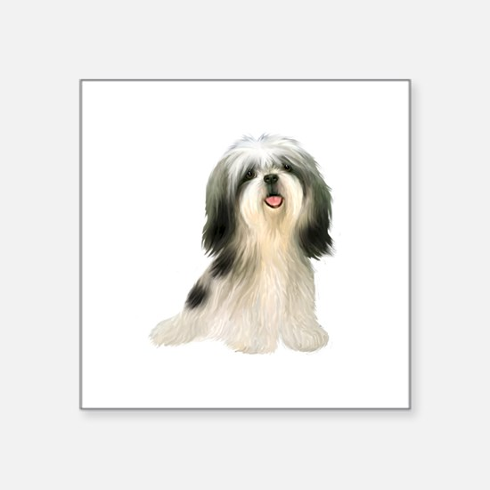 "ShihTzu (BW3)-JTD Square Sticker 3"" x 3"""