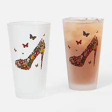 Butterflies and Heels Drinking Glass