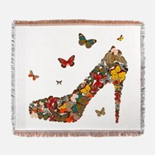 Butterflies and Heels Woven Blanket