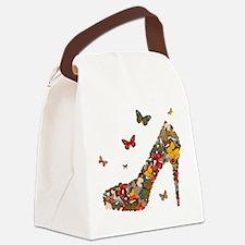 Butterflies and Heels Canvas Lunch Bag
