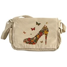 Butterflies and Heels Messenger Bag