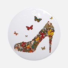 Butterflies and Heels Ornament (Round)