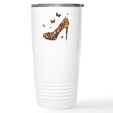 Butterflies and Heels Travel Coffee Mug