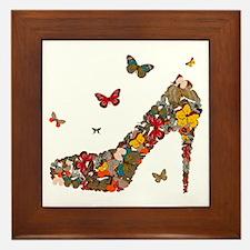 Butterflies and Heels Framed Tile