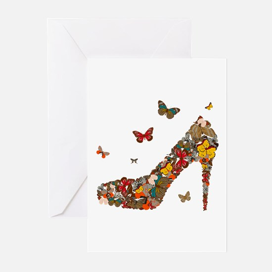 Butterflies and Heels Greeting Cards (Pk of 10)