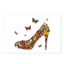 Butterflies and Heels Postcards (Package of 8)