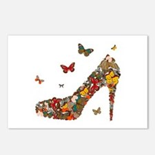 Butterflies and Heels Postcards (Package of 8)