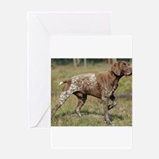 german shorthair pointer full Greeting Cards