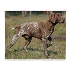 german shorthair pointer full Throw Blanket