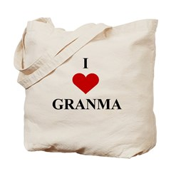 I Love (heart) Granma Tote Bag