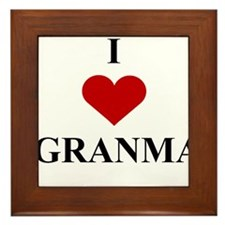 I Love (heart) Granma Framed Tile