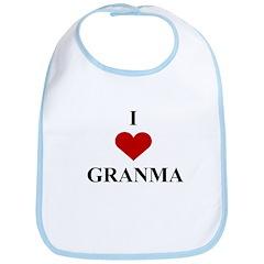 I Love (heart) Granma Bib