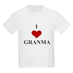 I Love (heart) Granma Kids Light T-Shirt